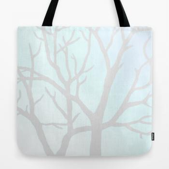 "Tote Bag 18"" x 18"" - Winter Tree"