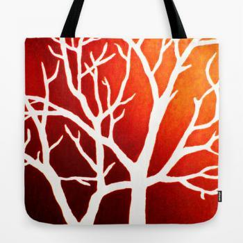 "Tote Bag 18"" x 18"" - Blazing Trees"